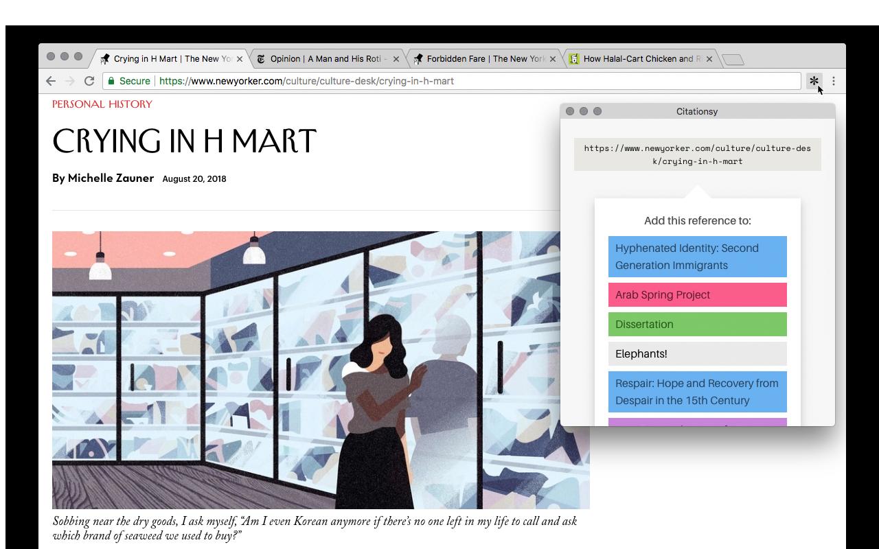 Citationsy Chrome Extension Screenshot