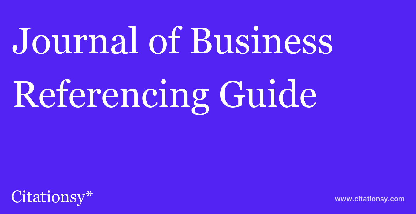 cite Journal of Business & Economic Statistics  — Referencing Guide